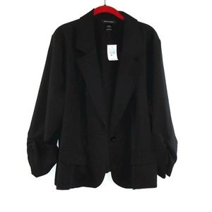 Ashley Stewart NWT Blazer Jacket 24 Black Dress Up